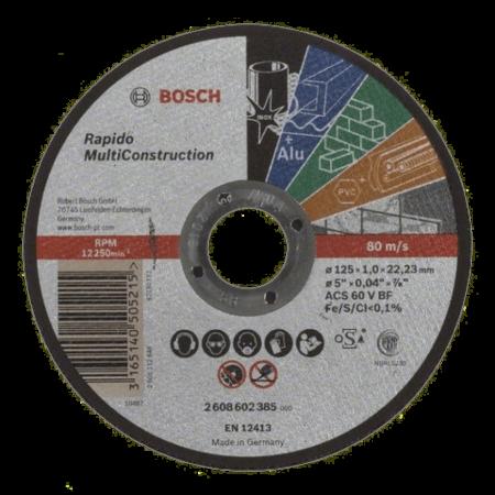 Disc abraziv Bosch UNIVERSAL MULTICONSTRUCT Ø125x1mm