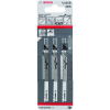 Set 3 lame fierastrau pendular Bosch CLEAN FOR WOOD
