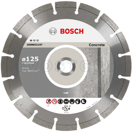 Disc diamantat Bosch CONCRETE Ø125mm ⬙