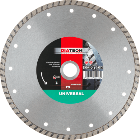 Disc diamantat Diatech TS UNIVERSAL Ø115mm