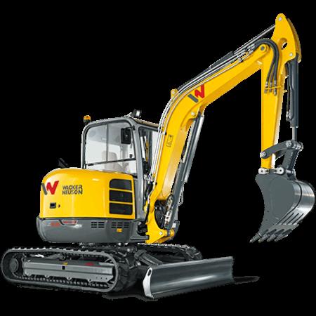 Excavator compact pe senile Wacker-Neuson EZ53