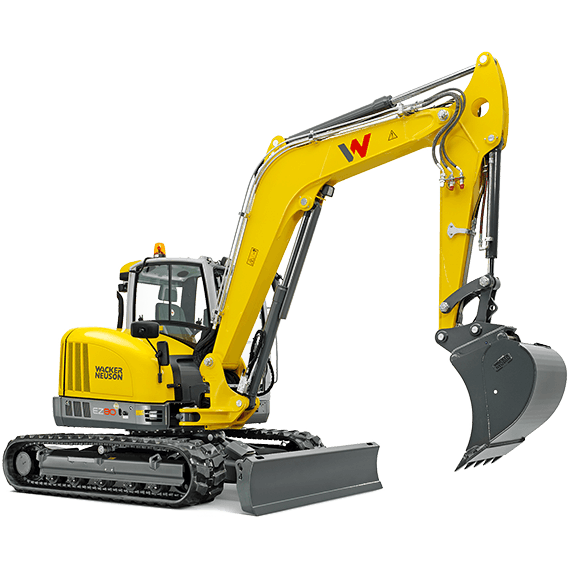 Excavator compact pe senile Wacker-Neuson EZ80
