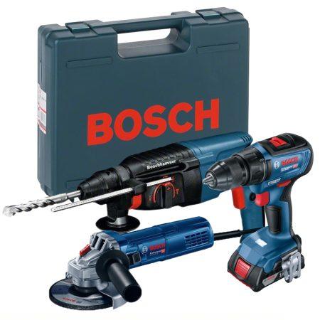 Pachet Bosch Esential autofiletanta bormasina surubelnita cu acumulatori flex