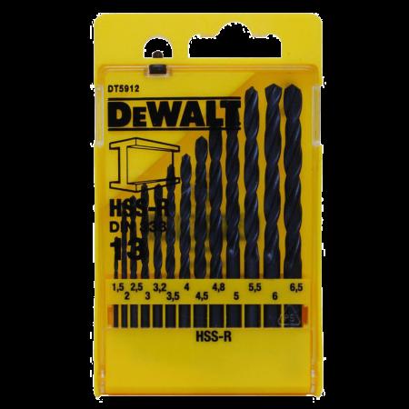 Set 13 burghie metal DeWalt DT5912 HSS-R 1.5-6.5mm