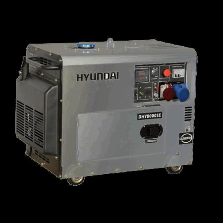 Generator de curent trifazat cu motor diesel Hyundai DHY8000SE-T