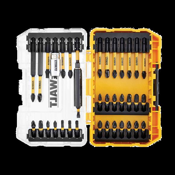 Set de 37 accesorii de infiletare si insurubare rezistente la impact DeWalt Flextorq